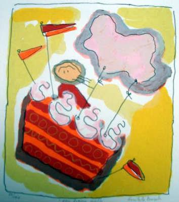 uit de Bosch - Geke - Een hapje wolk Vliegen in een vlaggentaart